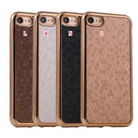 Wholesale Iphone Sparkle Skin - Bling Glitter Football Grain Plating Soft TPU Case For Iphone 8 7 I7 Iphone7 7TH Plus Sparkle Carbon Fiber Cell Phone Back Skin Cover 200pcs