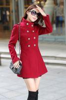 Wholesale Cashmere Wool Winter Jackets Women - 2017 Women Wool Blends Overcoat Fur Colar Coat Slim Fit Trench Double Breasted Winter Warm Long Section Jacket Ladies Coat FS0874