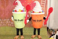 Wholesale Ice Cream Mascot Costumes - Hot delicious Ice cream Cone Mascot Costume EVA food Cartoon Clothing Walking Cartoon Doll Dress Adult Size New Year Party Performing Props