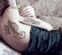 Wholesale Dedicated Tattoo - 2Pcs Lot 15*22cm Fashion Dedicated Magic Feather Tattoo Waterproof Temporary Tattoo Sticker 3D Body Back Art Large Tattoo