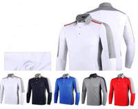 Wholesale Assorted Sports - 2017 Ti golf T-shirt dry fast Autumn long sleeve keep warm assorted color sports shirts 5 colors OEM available