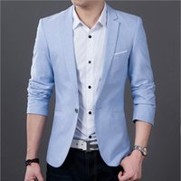 Wholesale Casual Suits For Men Weddings - Wholesale-Men's Fashion Casual Suit Jacket Groom Wedding Suits for Men Dress Blue and Black After The Slits