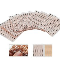 Wholesale ear stickers - 600Pcs Set Magnets Plated Ear Seeds Sticker Paste Bean Acupressure Ear massage seed for Acupoint Therapy Auricular Acupuncture H012