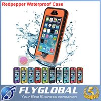 Wholesale Iphone 4s Tpu Dot - 2016 NEW Waterproof Case Redpepper Water Dirt Shock Snow Proof Case Cover with dots for iphone 4 4S 5 5S 5C for S7 S6 with Retail Package