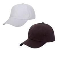Weiße Braune Baseballmütze Kaufen -6 Panels Cotton Ball Caps Golf Plain Hüte WhiteBrown Baseball Cap Metall Strap Snapbacks Hüte Casual 2 Packs