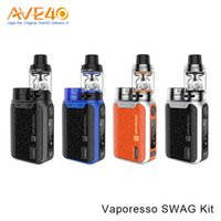 Wholesale Michael Glasses - Authentic Vaporesso Swag Kit 80W With 2ml 3.5ml NRG SE Tank Powered by Single 18650 Battery VS Asvape Michael Vfeng Smok T-priv