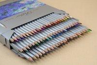 Wholesale Pencil Leads Colors - Marco 72 colors Color Pencil lapis de cor Professional Non-toxic Lead-free Colored Pencil School Supplies Painting Pencils