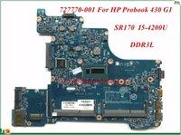 Wholesale Intel G1 - High Quality MB 727770-001 For HP Probook 430 G1 Laptop Motherboard 12239-1N 48.4YV09.011 SR170 I5-4200U DDR3L 100% Tested