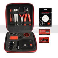 kit de herramientas reconstruidas vape al por mayor-100% original Coil Master DIY KIT V3 Kit de herramientas actualizado con 521 Mini lengüeta para herramienta de reconstrucción de la bobina Vape