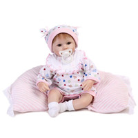 """Wholesale Touch Dolls Toys - Wholesale-Real touch 18"""" 45cm Silicone adora Lifelike Bonecas Baby newborn realistic magnetic pacifier bebe bjd reborn dolls babies toy"""