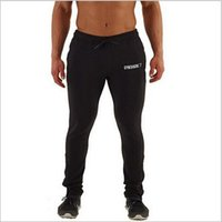 Wholesale Harem Tights - 2017 gymshark men compression pants sports running tights basketball gym clothing bodybuilding mens joggers jogging skinny pants