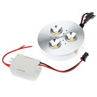 Wholesale Down Lights Kit - Wholesale-New led cabinet light kit 1W 3W LED downlight wall background with Driver for home 110 220V display counter recessed down light