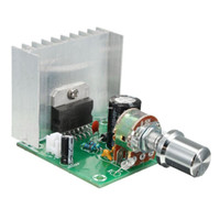 Wholesale digital audio power amplifier - Freeshipping AC DC 12V TDA7297 Digital Audio Amplifier Board Dual-Channel Noise-free Module