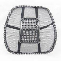 lumbar support mesh cushion Canada - Comfortable Mesh Chair Relief Lumbar Back Pain Support Car Cushion Office Seat Chair Black Lumbar Cushion