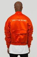 ingrosso solo chic-2018 Il più nuovo inverno noi uomini unisex hip hop chic solo la giacca MA1 tasca cieca con cerniere laterali rosse M-XL