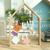 Wholesale Wooden Memo Clips - Wholesale- Miz Home 1 Piece Wooden Creative Message Photo Clip Stand Memo Clip Note Holder Card Holder for Office Home Hotel BJ030041