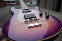 Wholesale music man guitars resale online - Custom Music Man Steve Morse Y2D Purple Sunset Violet Electric Guitar Flame Maple top