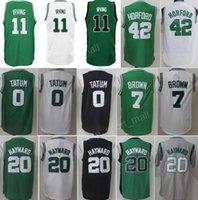 Wholesale Good Grey - New Team Kyrie Irving Jerseys 11 Jayson Tatum Jersey 0 Jaylen Brown 7 Gordon Hayward 20 Al Horford 42 Green White Black Grey For Man Good