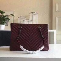 Wholesale Large Tote Patterns - 2016 new V pattern ladies Totes large retro leather fashion handbag designer handbag brand handbags