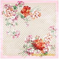 Wholesale Towel Simulation - Senior 90cm*90cm scarf scarf G letters flower towel napkins Ms. simulation Cecil
