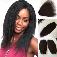 Malaisie Kinky Straight Hair Weft Coque Yaki Hair Weave Best Afro Hair Products Vendeur en ligne 8