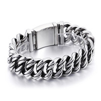 Silver 145g Heavy Stainless Steel Biker Cuban Curb Link Chain Bracelet Smooth Hommes 22mm 8.66 '' Huge