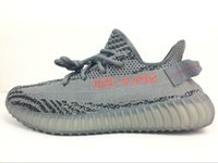 Wholesale Fall Patterns - Newest Beluga 2.0 Dark Grey Bold Orange Boost 350V2 AH2203 Running Shoes Best Quality Wide Pattern Soft Bottom With Box Size US5-US13