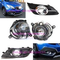 auto lâmpada decorativa venda por atacado-4pcs muito para Buick Encore 2013-15 Car Frente Auto Adesivos Nevoeiro Lâmpada Luz e Habitação Covers decorativa