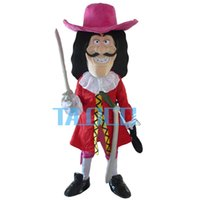 Wholesale Mascot Viking - 2016 New Vikings Pirate Captain Hook Mascot Costume Fancy Dress Adult Free Shipping