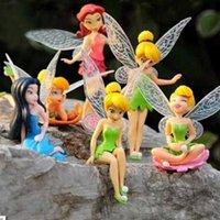 ingrosso miniature per giardini fiabeschi-Novità torta del fumetto Toppers Cup cake Topper Flower Fairy Garden Miniature Birthday Party Favors Decor Decorazione torta fai da te