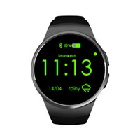 Wholesale Touch Mobile Wrist Watch - KW18 smart watches intelligent mobile cell phone smartwatch bluetooth with heart rate SIM TF card round touch screen GPRS sports pedometer