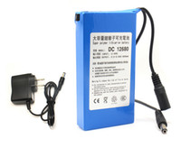 Wholesale Wholesalers Cctv Equipment - Rechargeable Li-po Battery DC 12V 6800mAh batteries Pack for CCTV Cam, LED lighting, DVD, PDA Medical Equipment Toy GPS US EU Plug Available