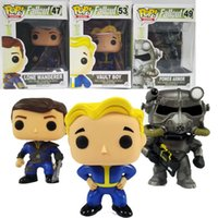 Wholesale Action Games Boys - Funko POP Games : Vault Boy Lone Wanderer Brotherhood of Steel Power Armor Figure PVC Action Figures Games Character Dolls Collection
