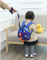 Wholesale Kids Harness Backpack - hot Child Kid Anti-lost Backpack Dinosaur Backpack Baby Walking Safety Harness Reins Toddler Leash Cute Cartoon Backpack