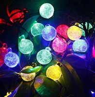 Boule de cristal solaire Outdoor Light String 12M 100LED Colorful solaire Globe Fairy Holiday Lights pour Garden Xmas Décoration de fête de mariage