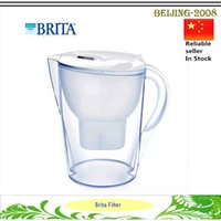 Wholesale Purified Water Quality - New Brita Slim Water Filtration Pitcher Clear White Blue with One Filter 2.8L Purifying Volumn high quality water purifier