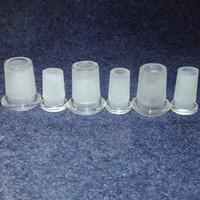 adaptador de tronco al por mayor-18 mm macho a 14 mm hembra reductor de cristal adaptador de perfil bajo 14 macho a 10 hembra conector de cristal de borosilicato hendido difusor de hendidura de downstem
