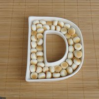 Wholesale Ceramic Candy - Porcelain Letter D Candy Dish Wedding Plates, Ceramic English Letter Dish
