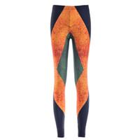 pantalones de buceo al por mayor-Mujeres Moda Jamaica Bandera Galaxy Leggings Pantalones de buceo negro Impreso Cielo Espacio Elástico Respire Navidad Warm Jeggings Slim Tights