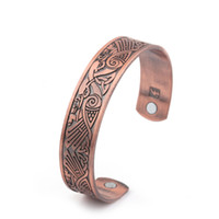 Wholesale Phoenix Fashion - Healthy Magnetic Cuff Engrave Vintage Phoenix Open-ended Cuff Bangle Wristband Bracelet Fashion Jewelry For Men and Women