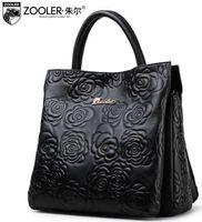 Wholesale Zooler Bags - ZOOLER Bags Handbags Women Famous Brands Genuine Leather Handbag Women Crossbody Shoulder Messenger Bags Female Floral Tote Bag