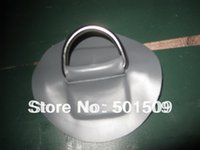 Wholesale D ring Heavy duty stainless steel D ring with round PVC patch for inflatable boat accessory cm dia
