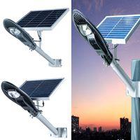 ingrosso luci del pannello 12v-Lampione stradale a LED Lampione stradale Lampione stradale a pannelli solari impermeabile IP65 illuminazione esterna 10W 12W 20W
