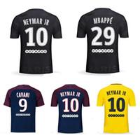 84d89fc56f4 Thai 17 18 NEYMAR JR soccer jerseys DI MARIA MBAPPE football shirt 2017  2018 DANI ALVES jersey maillot de foot Big Size XXL XXXL XXXXL ...