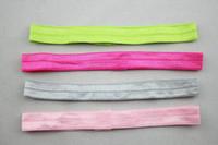 Wholesale Thin Silk Baby - Korean jewelry wholesale children's solid light high elastic thin elastic hair band baby headband AC002