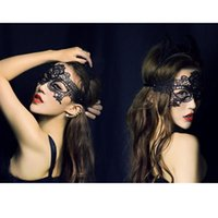 Wholesale Lace Mask Embroidery - Wholesale-Sexy Lace Masks for Masquerade Party Birthday nightclub Party Xmas Adult Games Lace Embroidery Cutout Women Veil Costume Mask