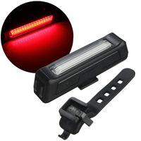 carregador de bicicleta venda por atacado-Luzes da bicicleta USB LEDs Luz Super Brilhante LEDs Lanterna Bateria De Polímero De Lítio Recarregável 100 Lumens Carregador USB com Suporte de Bicicleta