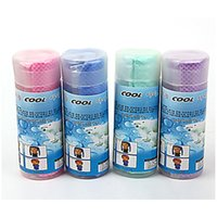Wholesale Blue Bamboo Towels - Unisex Coolcore Cold Towel Summer Sports Ice Cooling Towel Hypothermia cool Towel 80*34cm