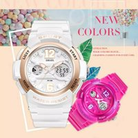 Wholesale Cool Dive Watches - L1022003 Smael luxurious luxury sports series waterproof watch quartz watch colorful cool versatile lady diving watch