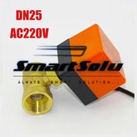 """Wholesale Valves Actuator - DN25(G1.0"""") electric actuator valve ,AC220V Electric Ball Valve, Brass Motorized Ball Valve ,Switch type electric two-way valves"""